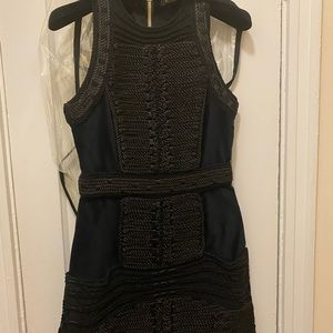 Balmain x H&M Black Velvet Rope Dress
